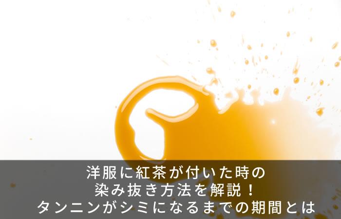 洋服に紅茶が付いた時の染み抜き方法を解説!タンニンがシミになるまでの期間とは